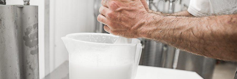 il caseificio e la preparazione dei formaggi dell'agrilatteria del pianalto