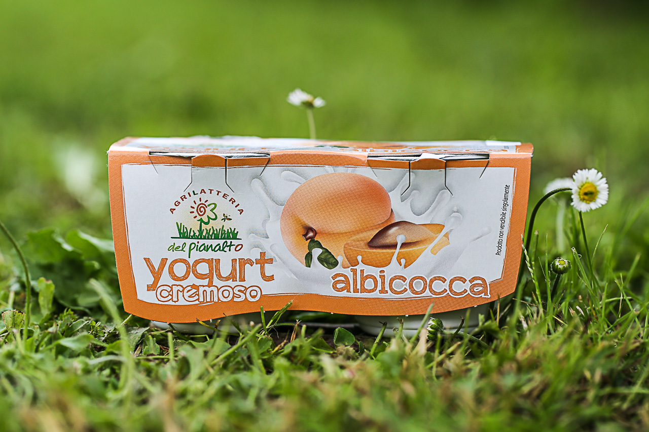 lo yogurt all'albicocca dell'agrilatteria del pianalto