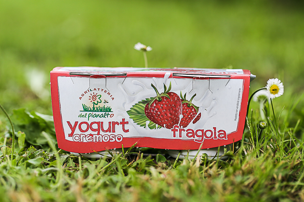 lo yogurt alla fragola dell'agrilatteria del pianalto