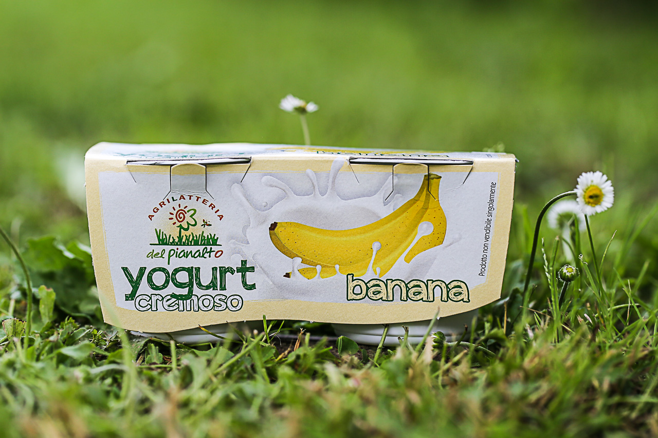 lo yogurt alla banana dell'agrilatteria del pianalto