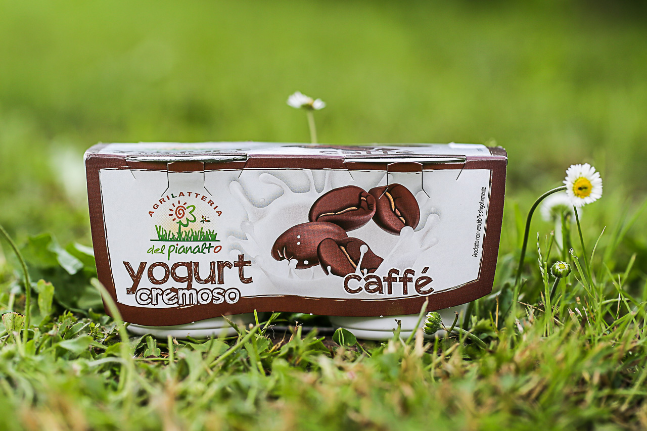 lo yogurt al caffè dell'agrilatteria del pianalto