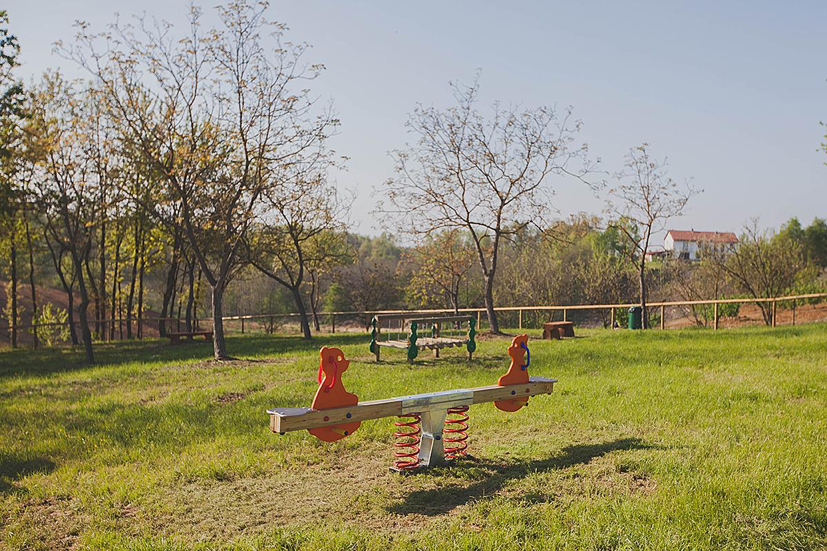 i giochi per bambini del parco dell'agrilatteria del pianalto